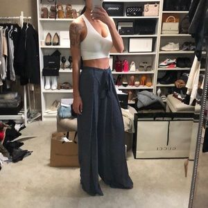 Zara Blue Wide Leg Pants - brand new